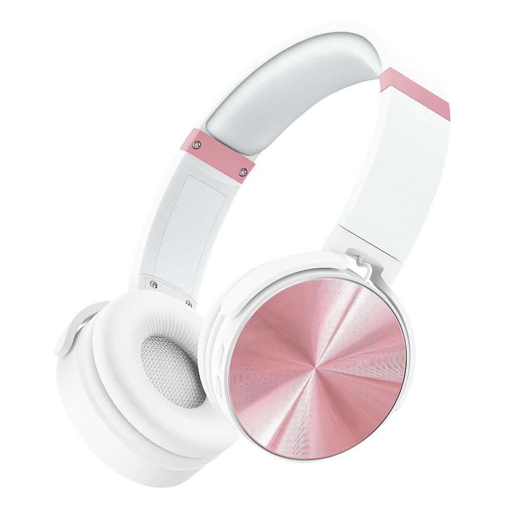 RevJams Studio Deco 2 Over-the-Ear Bluetooth Headphones - White/Rose Gold