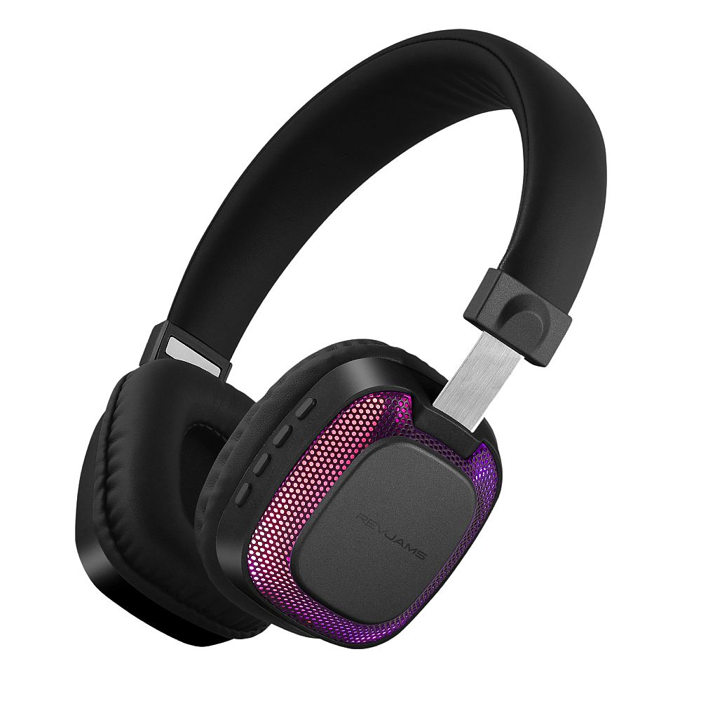 RevJams Disco LED On-the-Ear Bluetooth Headphones