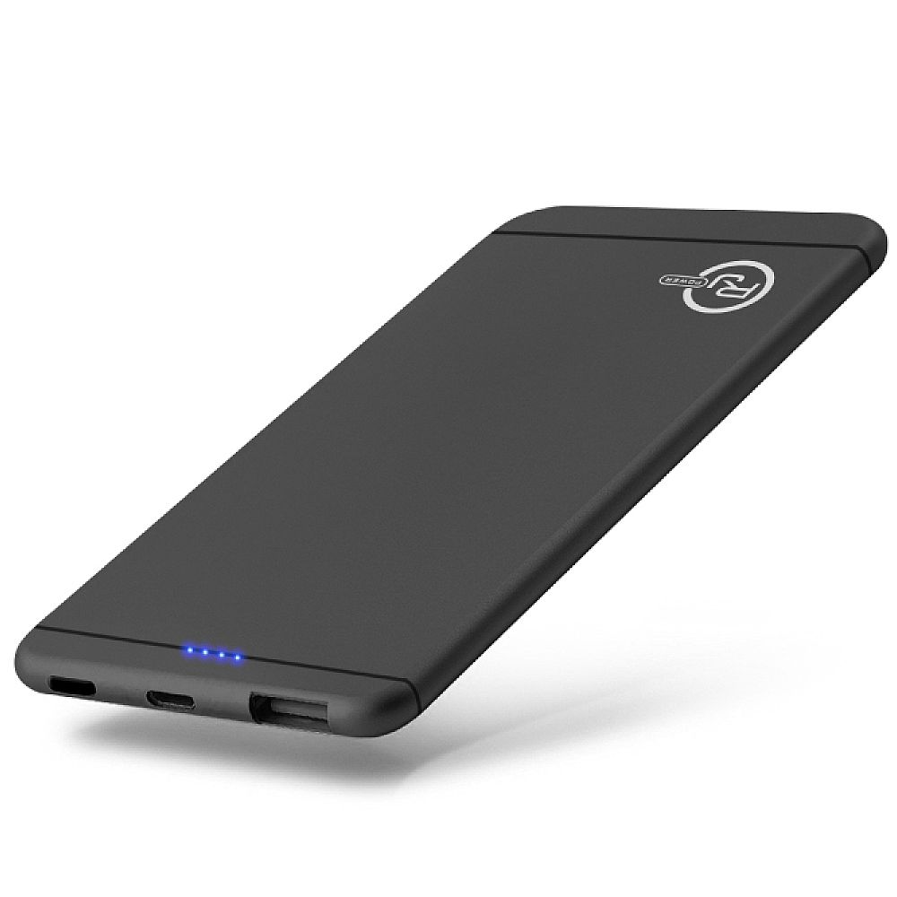 RJ Power 5,000mAh Ultra Slim Power Bank- Black