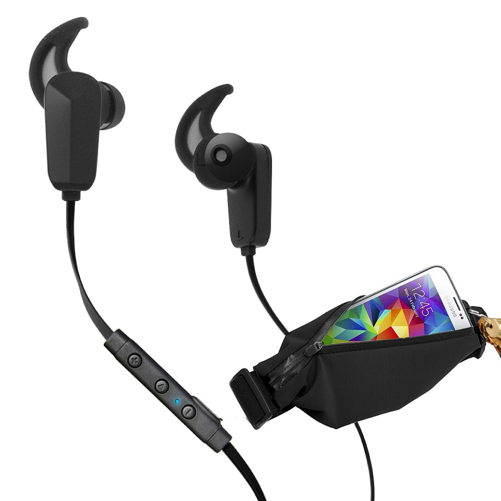 RevJams Active Pro Sports Bundle -Bluetooth Earbuds + waist pack